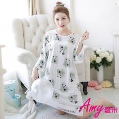 AMY愛米-甜美可愛七分袖睡衣居家服(AD098)