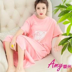 AMY愛米-甜美鑽石短袖睡衣居家服(AD099)