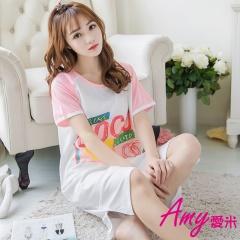 AMY愛米-甜美可愛短袖純居家服(AD100)