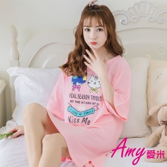 AMY愛米-可愛小貓短袖居家服(AD102)