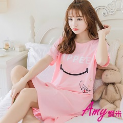 AMY愛米-SMILE甜美可愛短袖睡衣居家服(AD105)