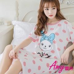 AMY愛米-日系甜美女孩短袖睡衣居家服(AD106)