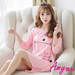 AMY愛米-日系甜美女孩短袖睡衣居家服(AD107)