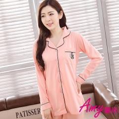 AMY愛米-韓系寬鬆長袖二件式居家服(AD109)