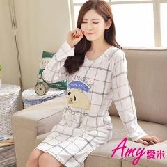 AMY愛米-甜美可愛長袖睡衣居家服(AD112)