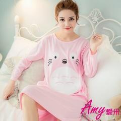 AMY愛米-經典卡通款長袖連身裙睡衣(AD132)