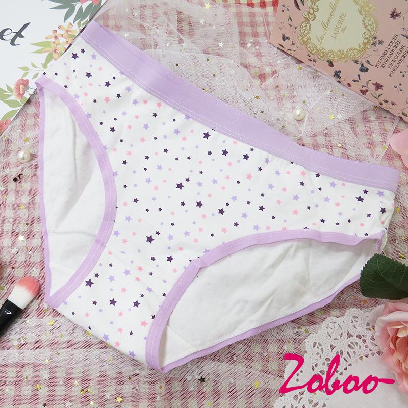 ZOBOO-大尺码可爱星星图案女性内裤(UN028)