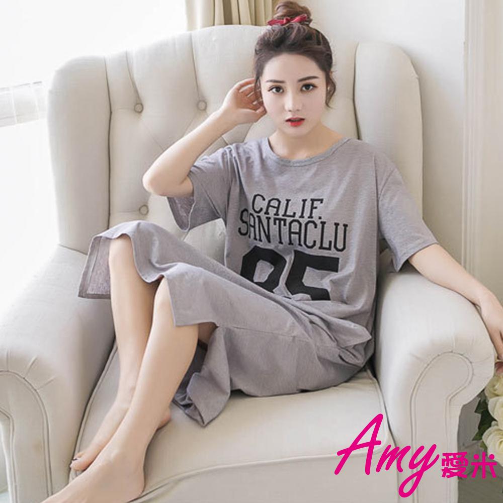 AMY爱米-英文简约长版睡衣(AD187)