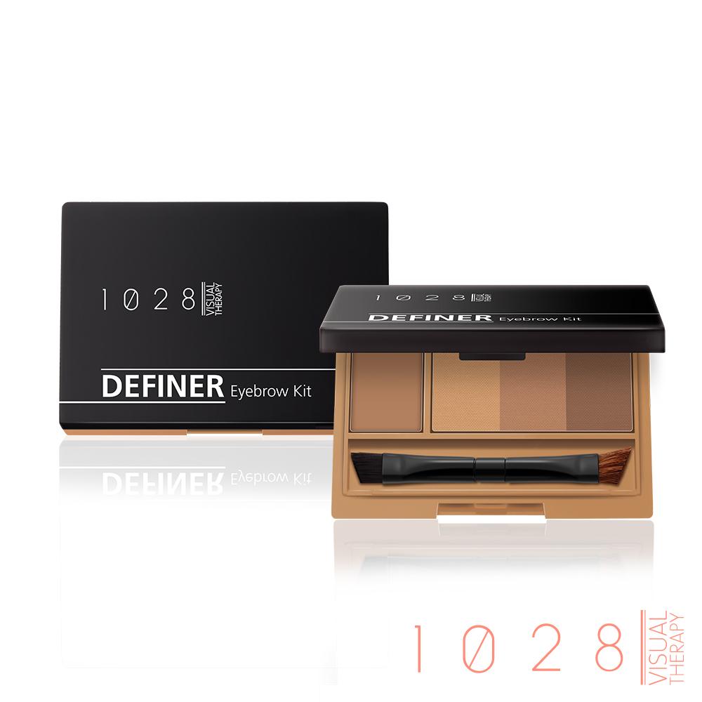 1028 双效定型眉饼盒 (01 棕黄色 / 02 咖啡红)