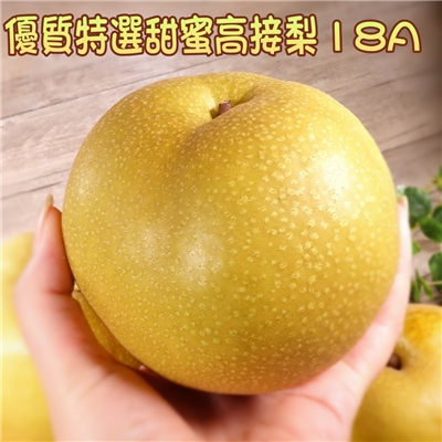 坤田水果 優質特選甜蜜高接梨18A(4箱)單箱8.3斤 8顆單顆重623克