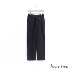 beartwo 慵懶風格綁帶老爺褲(黑色)