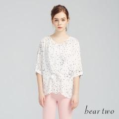 beartwo網路獨家款-點點綁帶造型雪紡上衣(二色)