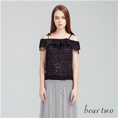 beartwo網路獨家款-輕透點點雪紡細肩背心上衣(二色)