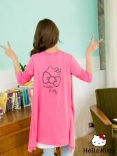 HELLO KITTY經典印花長版外套.4色