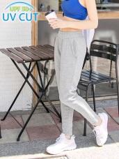 台灣品質.世界同布~口袋拼色抗UV運動長褲