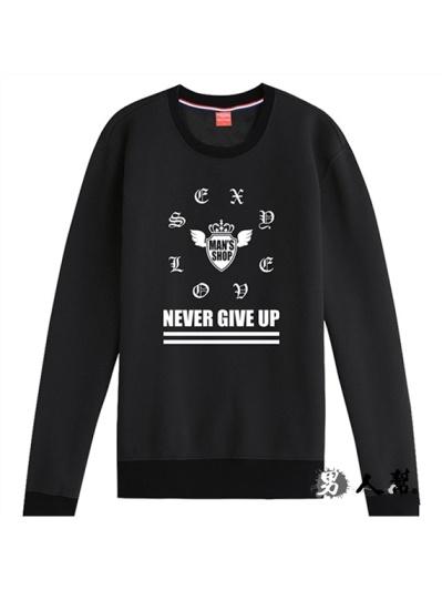 男人幫- Never Give Up 圓領T恤(T5694)