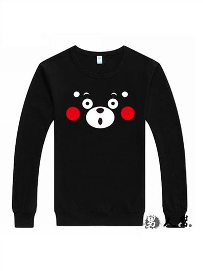 男人幫-Q版日本熊本縣吉祥物kumamon動漫長袖圓領T恤(T5826)