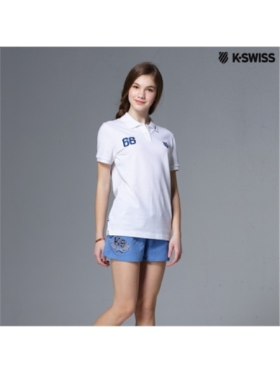 K-Swiss Sweat Shorts棉質休閒短褲-女-藍