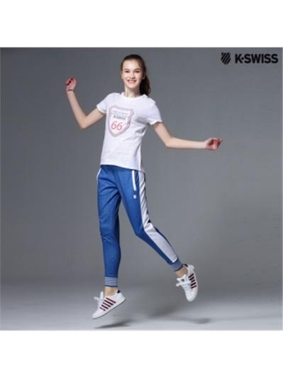 K-Swiss Pants運動長褲-女-寶藍