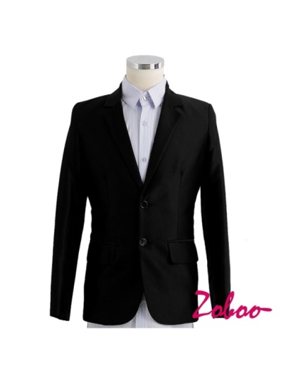 ZOBOO-全新光澤斜紋雙扣西裝外套C5316
