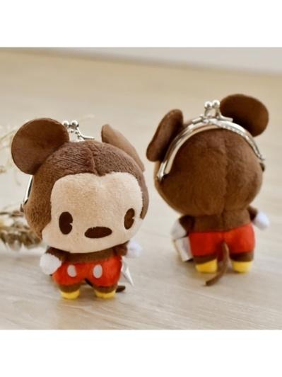 DISNEY 迪士尼造型絨毛零錢包-米奇(A-PLUS)
