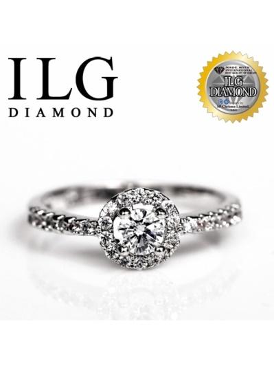 【頂級美國ILG鑽飾】八心八箭戒指-優雅巴黎款戒指RI065主鑽約0.2克拉