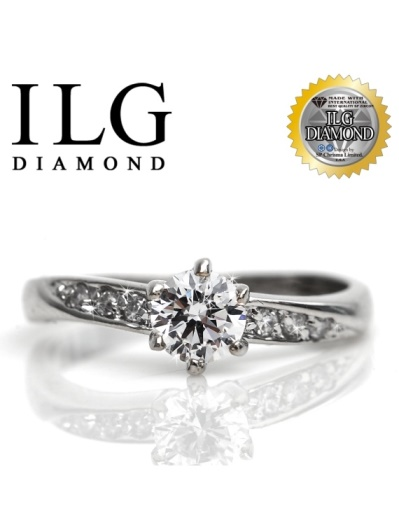 【頂級美國ILG鑽飾】八心八箭戒指-甜心魅力款RI003主鑽約0.5克拉