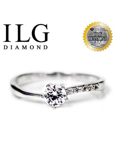 【頂級美國ILG鑽飾】八心八箭戒指-細語嚀喃款RI076主鑽約0.2克拉