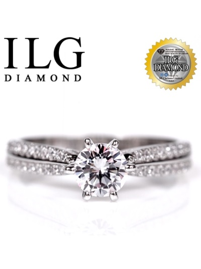 【頂級美國ILG鑽飾】八心八箭戒指-魅力北歐款RI103主鑽約0.75克拉